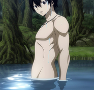 Zeref in a lake