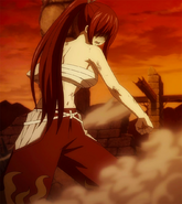 Erza battles Neo Minerva