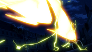 Laxus' Roar towards Atlas Flame