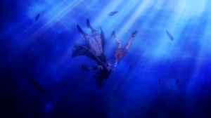 Levy gives Gajeel her air.png