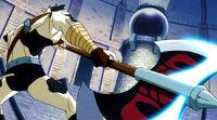 Fairy Tail Taurus wielding his Axe