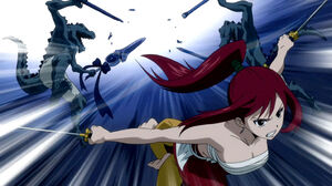 Erza vs. Lizardmen