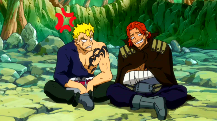 Image - Gildarts laughing at laxus.png | Fairy Tail Wiki ...