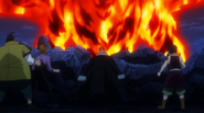 Laxus tells the others what to do