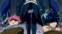 Knightwalker dragging Natsu and Gray