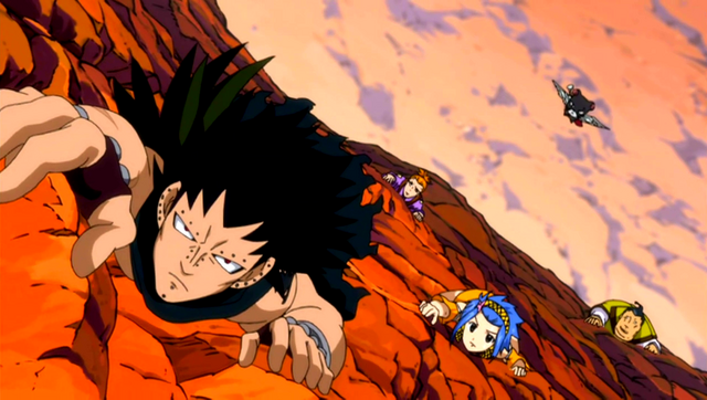 File:Team Gajeel climbs mountain.PNG