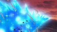 Meteor Blade's blast