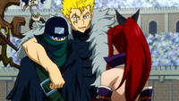Laxus, Erza and Jellal talking
