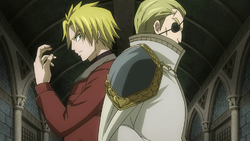 Yuri and Precht fight Blue Skull