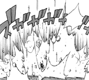 Erza attacking midnight with her swords