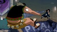 Nab attacked by Gajeel