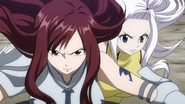 Erza and Mirajane are on their way
