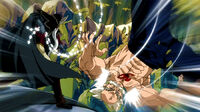 Hades uses his magic to attack Makarov