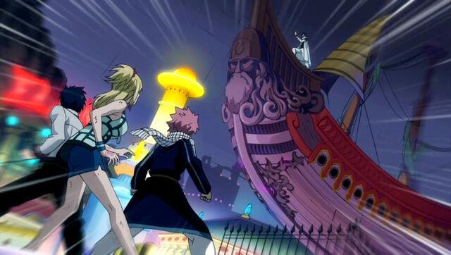File:Natsu, Lucy and Gray vs. Hughes.JPG