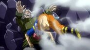 Natsu destroys the lacrima and defeats Zero