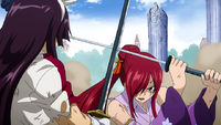 Erza blocks Archenemy