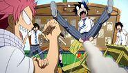 Gray falls for Natsu's prank