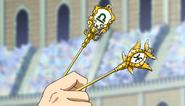Yukino holding Libra and Pisces keys