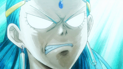 Aquarius' angry face