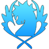 Blue pegasus symbol