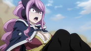 Meredy watches in horror