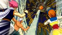 Natsu's Group vs. Imitatia
