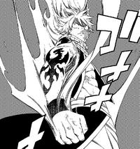 Natsu reveals the Fire Dragon King's tattoo