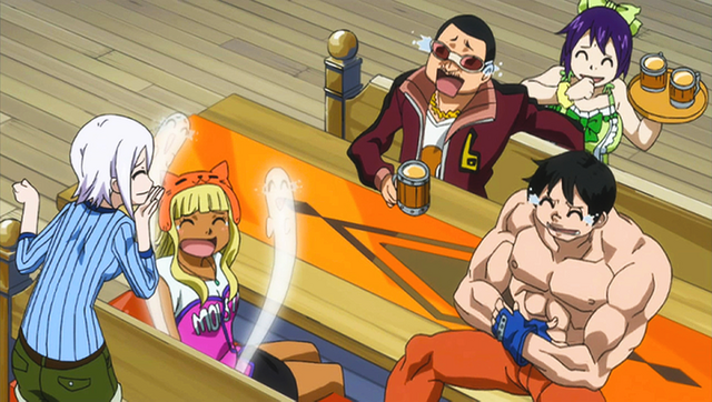 File:Lisanna laughing with Chico, Joy, Joey and Kinana.png
