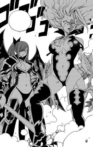 File:Erza and Mirajane defend the chairman.png