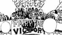 Fairy Tail cheers for their team