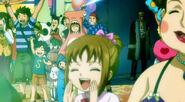 Romeo, Labian and Wakaba's Wife watch Fantasia Parade