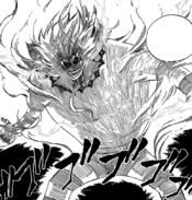 Franmalth absorbing Natsu through his Magic
