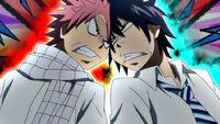Natsu and Gray begin to argue