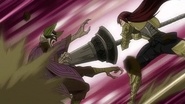 Kyôka is struck by Erza