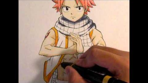 Drawing Natsu from Fairy Tail