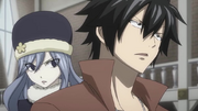 Gray and Juvia Notice Jet and Droy Enter the Guild