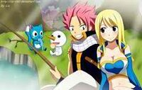 NaLu fishing with Happy and Plue