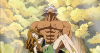 Elfman carrying Evergreen