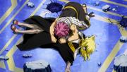 Natsu Sobbing Over Future Lucy's Corpse