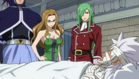 Elfman and Evergreen Staring at Each Other
