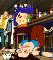 Bacchus defeats Cana in a drinking contest
