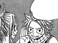 Natsu-Talking-about-the-Treasure