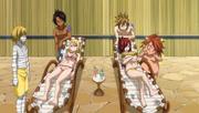 Hibiki, Ren, Eve, and Ichiya flirt with Erza and Lucy