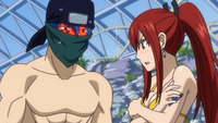 Jellal and Erza Stare Wonders What was that