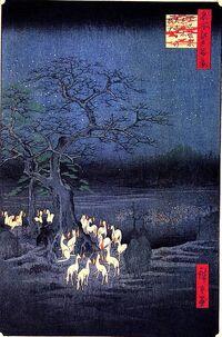 Kitsune painting