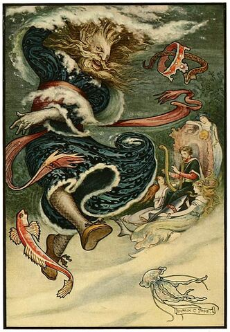 File:14 The Water Tsar dances - Russian Fairy Book 1916, illustrator Frank C Pape.jpg