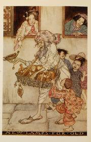 Arthur-Rackham-Aladdin-New-lamps-for-old