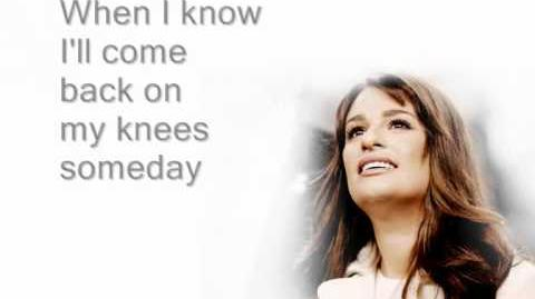 My Man - Glee (Lyrics)