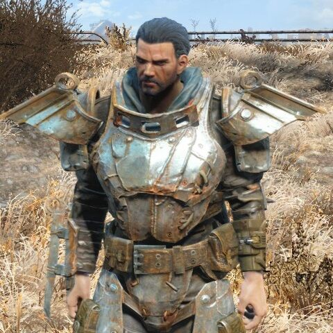 Byron, full armor and with sword