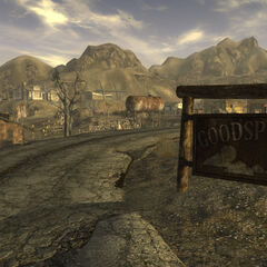 The entrance to Goodsprings